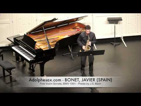 Javier Bonet First Violin Sonata, BWV 1001 Presto by J S Bach
