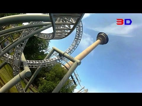 Tornado 3D front seat on-ride HD POV Särkänniemi Amusement Park