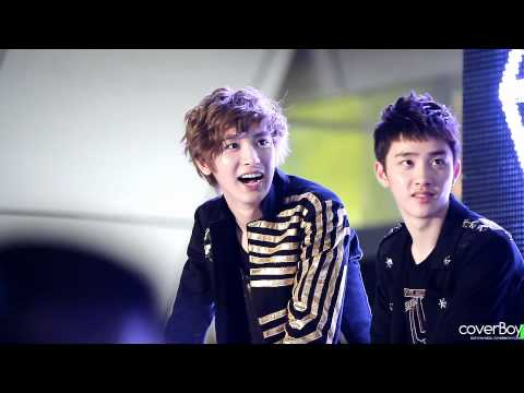 120602 EXO-K Genie AR Show Chanyeol and D.O.'s reactions!!^^