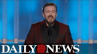 Ricky Gervais burns Hollywood elite at Golden Globes