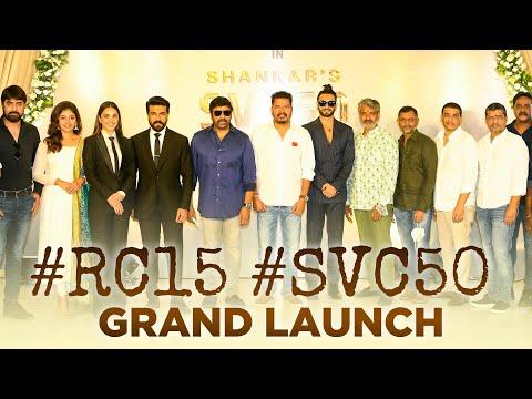 Ram Charan and Shankar Grand Movie Launch Video