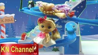 Đồ chơi trẻ em Búp bê baby Chibi Tập Cầu tuột chim cánh cụt Baby doll  Stop motion Kids toys