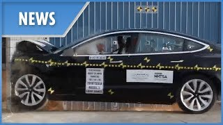 Tesla Model 3 full CRASH TEST (perfect 5* rating)