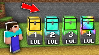 Minecraft NOOB vs PRO: WHAT LEVEL THE CHEST WILL CHOOSE NOOB IN VILLAGE Challenge 100% trolling