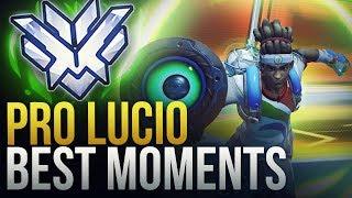 BEST PRO LUCIO MOMENTS - Overwatch Montage