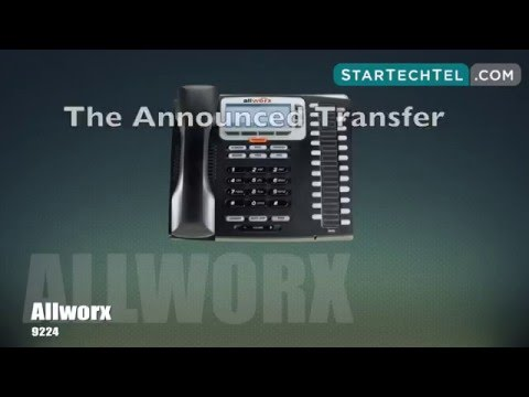 How To Transfer A Call On The Allworx 9224 Phone