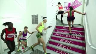 Extreme skyscraper stair race!