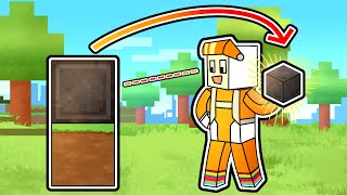 Minecraft Manhunt but WHATEVER YOU LOOK AT YOU GET