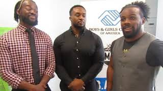 Interview with WWE New Day at Be a STAR at Boys & Girls Club South Beach in Miami