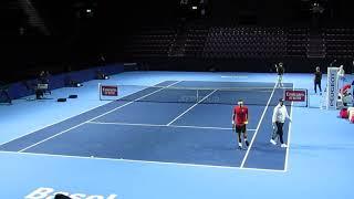 Roger Federer Practice Games - Basel 2019