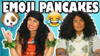 Moana vs Maui Emoji Pancake Art Challenge . 😺 Totally TV