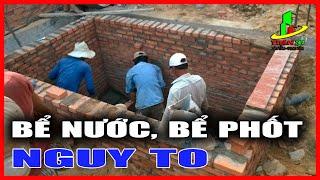 Thi công bể phốt, thi công bể nước ngầm trong kỹ thuật xây dựng nhà hiện đại cần chú ý điều gì ?