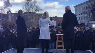 Joe Biden Rally after filing in New Hampshire 11-8-19 for President - RAW FOOTAGE