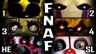 FNAF 1, 2, 3, 4, HE, SL - ALL JUMPSCARES | 50+ in Total
