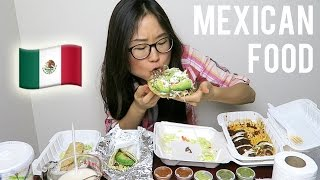 MEXICAN FOOD MUKBANG with sopes, enchilada, tacos
