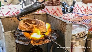 CHEESE MASALA TOAST SANDWICH MAKING | STREET FOODS 2017 street food