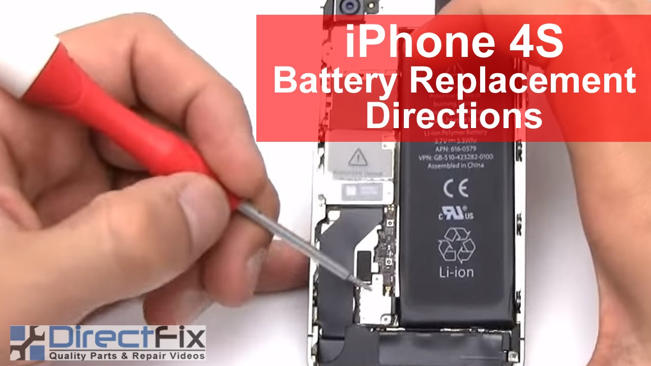 how to replace iphone 4s battery iphone 4s battery replacement in 2 minutes 1706
