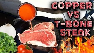 Uzeo je veliki komad mesa, a onda preko njega istresao topljeni bakar! Htjećete da vidite šta će se dogoditi na kraju… (VIDEO)
