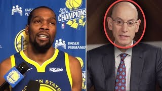 """Kevin Durant Says """"I Will Go Play WITH LEBRON AND THE LAKERS"""" & Silver SUSPENDS HIM For TAMPERING"""