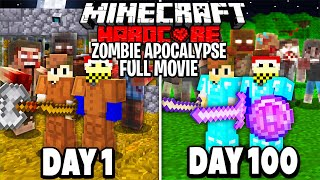 We Survived 100 Days in a HARDCORE Zombie Apocalypse...