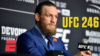 Conor McGregor addresses Floyd Mayweather, Jorge Masvidal after UFC 246 win | ESPN MMA