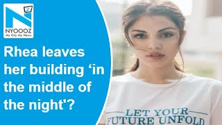 Sushant death case: Rhea leaves her house in the middle of..