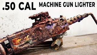 Broken Machine Gun Lighter Restoration - Browning M2 repair