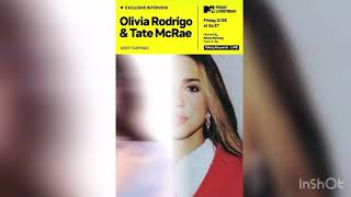 Olivia Rodrigo and Tate McRae interview with MTV