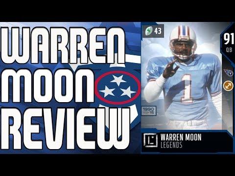 91 LEGEND WARREN MOON REVIEW   MADDEN 18 ULTIMATE TEAM PLAYER REVIEW