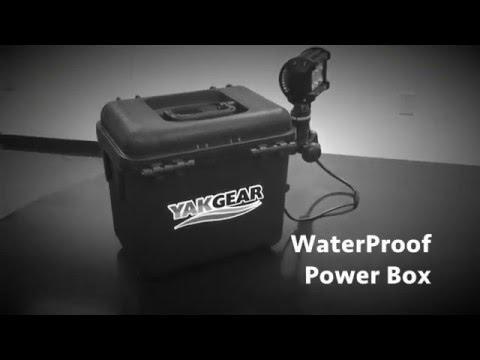 Waterproof Power Box - Custom Extended Paddling Trip Battery Rigging