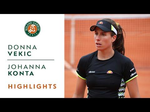 Donna Vekic vs Johanna Konta - Round 4 Highlights | Roland-Garros 2019