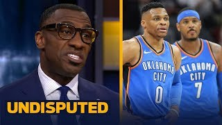 Shannon Sharpe blames Russ and Melo for Thunder blowing late lead vs Celtics | UNDISPUTED