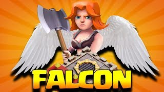 """THE FALCON"" BEST NEW TH10 ATTACK STRATEGY 2018 in Clash of Clans"