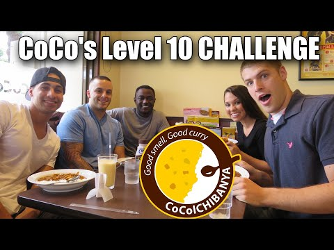 SPICY FOOD CHALLENGE   COCO'S CURRY LEVEL 10