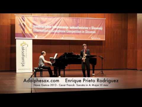 Enrique Prieto Rodriguez Nova Gorica 2013 Cesar Franck Sonata in A Major III mov