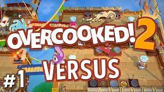 Overcooked 2 Versus - #1 - Pancakes vs Waffles!! (4 Player Gameplay)