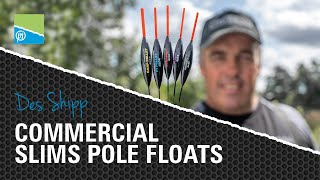 Video thumbnail for OUR BEST POLE FLOATS EVER! | DES SHIPP COMMERCIAL SLIMS! Preston Innovations Match Fishing Videos