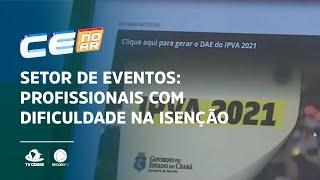 SETOR DE EVENTOS: Profissionais com dificuldade na isenção do IPVA