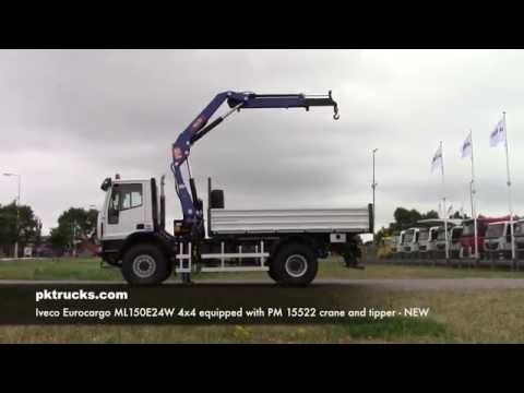 iv3756 Iveco 4x4 with PM crane