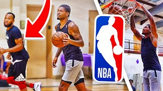 Private 5v5 Basketball Runs With NBA & OVERSEAS Pros!