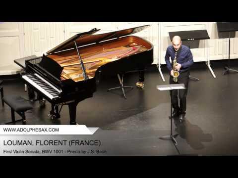 Dinant 2014 - Louman, Florent - First Violin Sonata, BWV 1001 - Presto by J.S. Bach