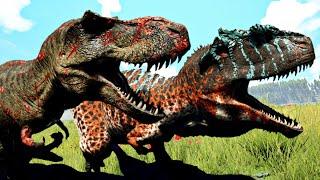 Duelo Jurássico: T-Rex Vs Spinosaurus Vs Giganotossauro + Dinossauros! The Isle (PT/BR)