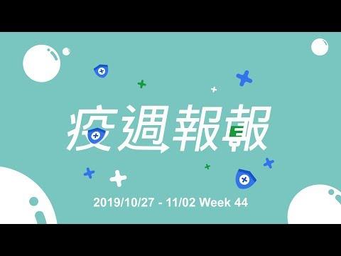 疫週報報|2019/10/27-11/02|諾羅病毒腹瀉群聚增加!