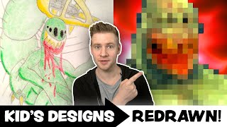 KID'S ART Redrawn by a PROFESSIONAL ARTIST! - Ep.7
