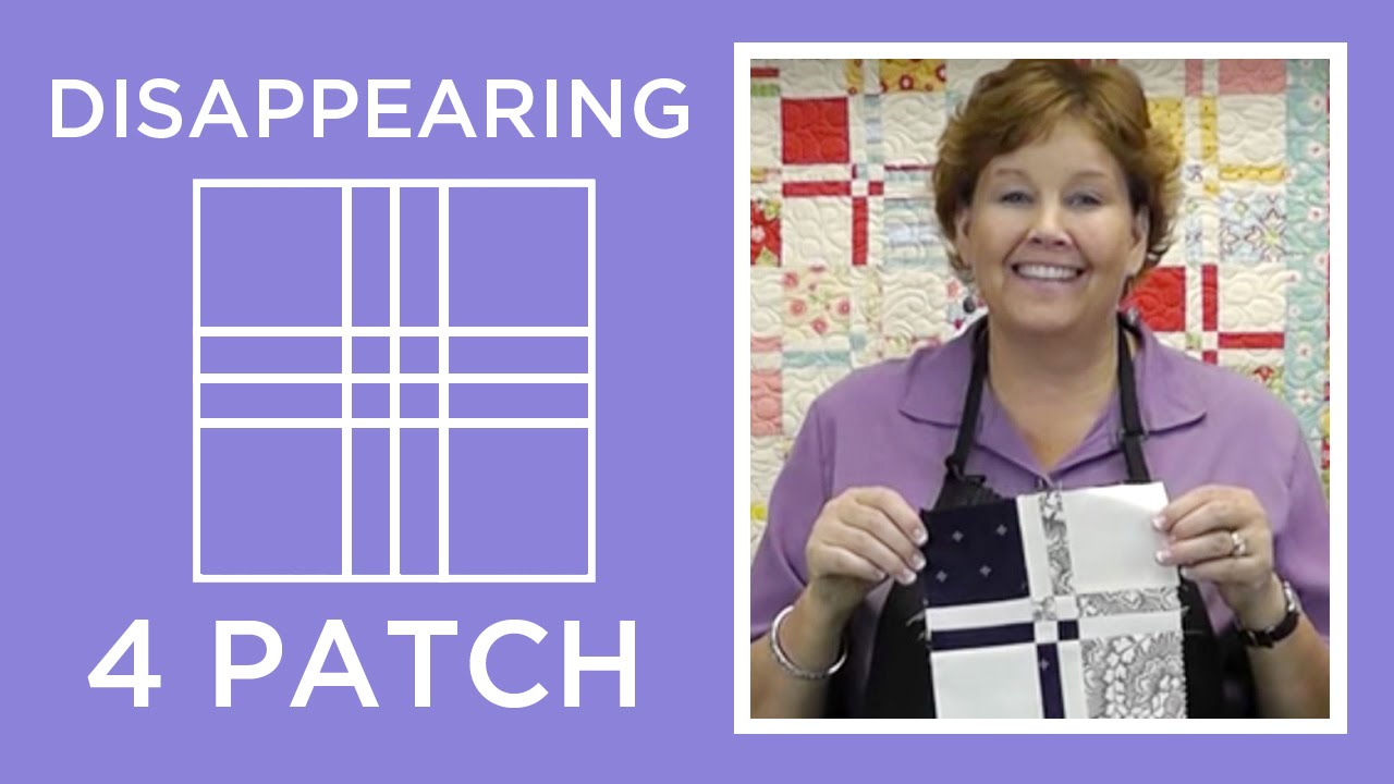 Disappearing 4 Patch Quilt Block Tutorial Youtube