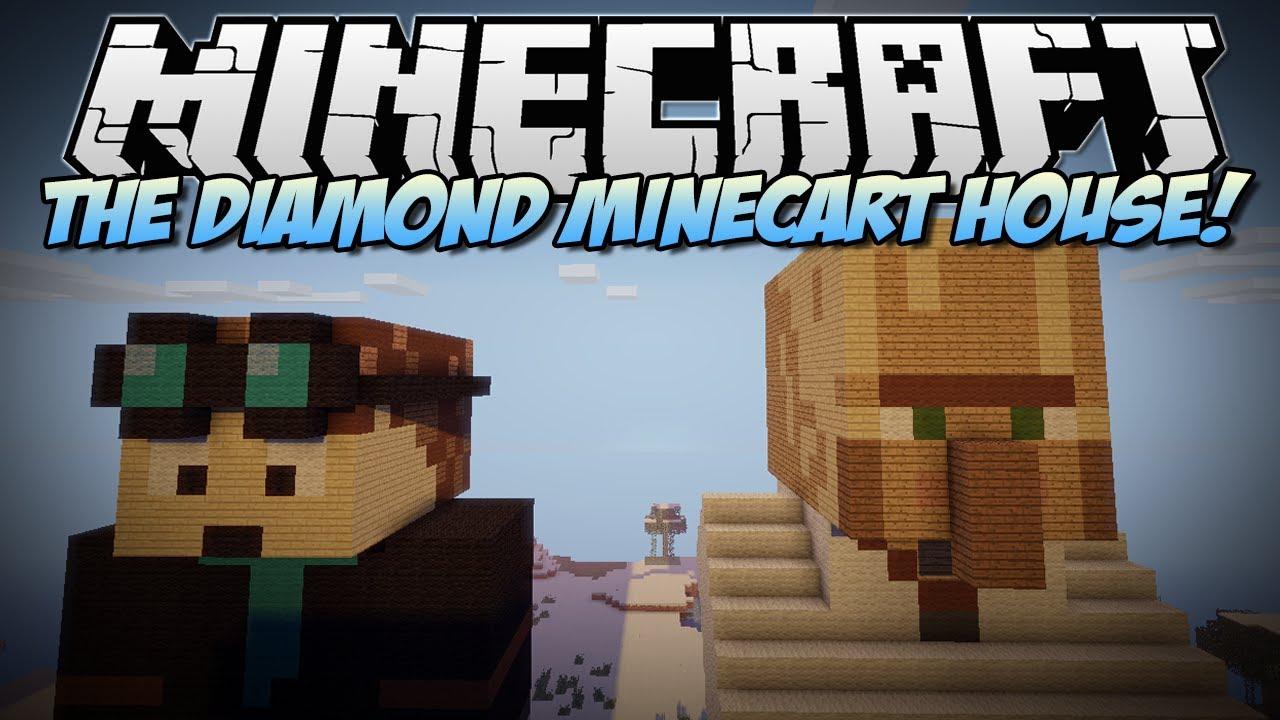 Minecraft | THE DIAMOND MINECART (& Trayaurus) HOUSE ...