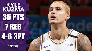 Kyle Kuzma drops 36 points without LeBron or AD in Lakers vs. Thunder | 2019-20 NBA Highlights