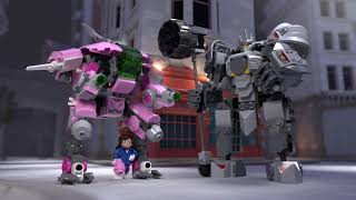 Heroes of Overwatch: D.Va vs Reinhardt  - LEGO Overwatch Collectibles – 75973