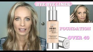 IT COSMETICS BYE BYE LINES REVIEW | FOUNDATION FOR MATURE SKIN