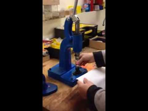 Micron M-3 Grommet Attaching machine with #3 Self-Piercing grommets Installation